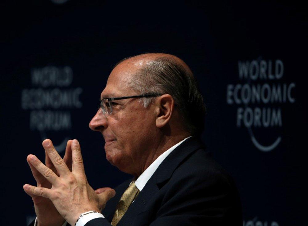 Alckmin participa do Fórum Econômico Mundial, em São Paulo 14/3/2018 REUTERS/Paulo Whitaker