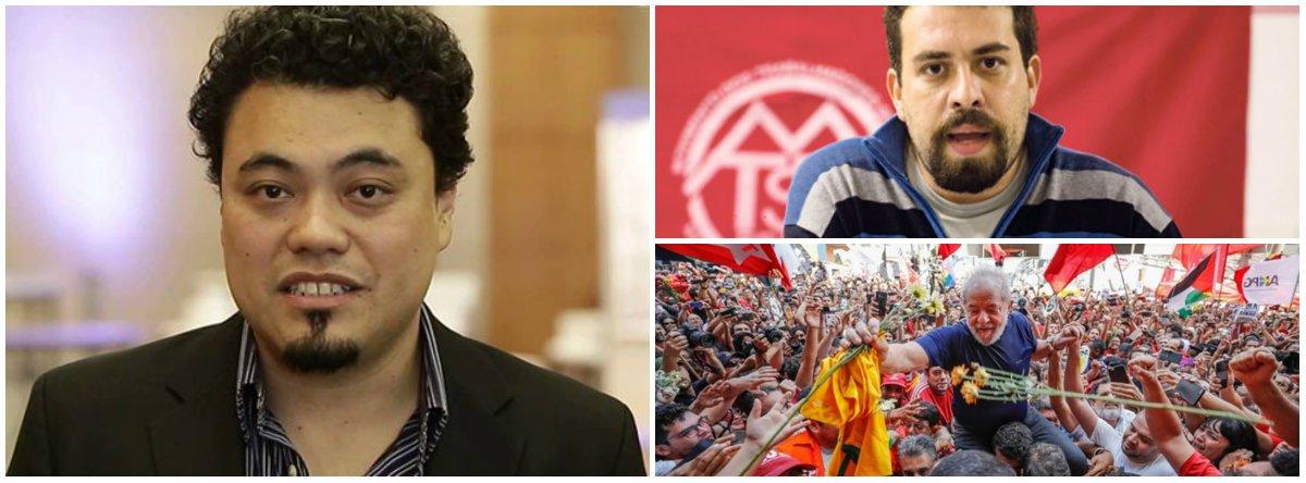 """""""Cresce a percepção junto a fontes ouvidas no PT e em movimentos sociais que Lula pode estar escolhendo seu ''herdeiro político'': o coordenador nacional do Movimento dos Trabalhadores Sem Teto, Guilherme Boulos"""", escreve o jornalista Leonardo Sakamoto"""
