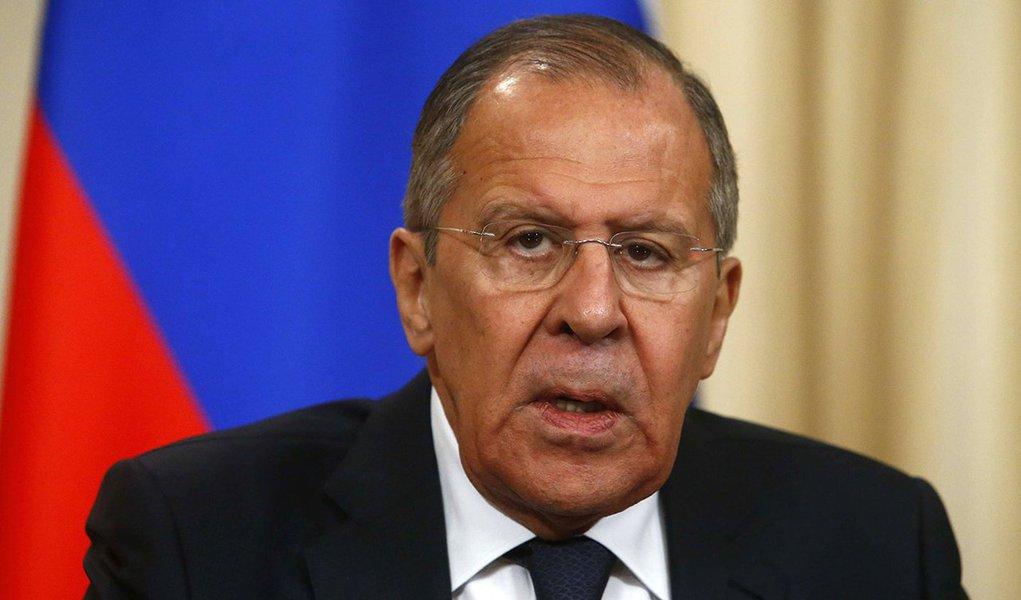 Ministro de Relações Exteriores da Rússia, Sergei Lavrov, durante coletiva de imprensa em Moscou 14/03/2018 REUTERS/Sergei Karpukhin