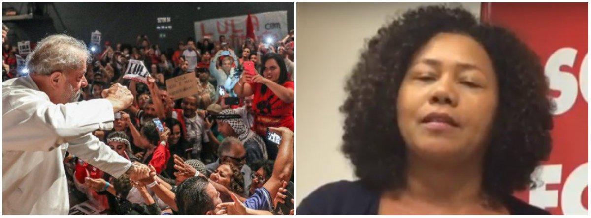 """A vice-presidenta da CUT, Carmen Foro, reforçou a resistência contra a prisão do ex-presidente Lula determinada pelo juiz Sergio Moro; """"Vamos resistir até o máximo que puder. Nossa morada é em São Bernardo"""", disse ela; a ordem de prisão foi emitida antes do processo transitar em julgado, antes de acabar todos os recursos possíveis da defesa do ex-presidente, o que fere a Constituição Federal (CF);o inciso LVII do artigo 5º da CF prevê que """"ninguém será considerado culpado até o trânsito em julgado de sentença penal condenatória"""""""