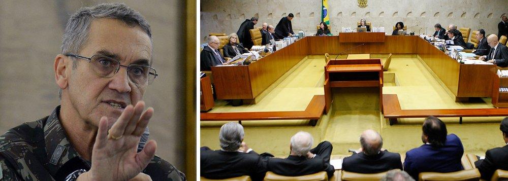 """Certamente, foi com base na artigo 142 da Constituição """"que o general Villa-Boas, comandante do exército, se sentiu à vontade para fazer ameaça ao Supremo Tribunal Federal, às vésperas do julgamento do pedido de Habeas Corpus do ex-presidente Lula, causando imensa perplexidade ao país"""", diz o colunista Laurez Cerqueira; """"A Constituição e as leis, empilhadas sobre as mesas dos magistrados, nas sessões de julgamento, serviram apenas de enfeites. Os direitos inalienáveis do ex-presidente Lula e de qualquer cidadão estavam ali escritos na Carta Magna, no Código Penal, mas eram letras mortas. Estava tudo combinado, desde a primeira à última instância do judiciário"""""""