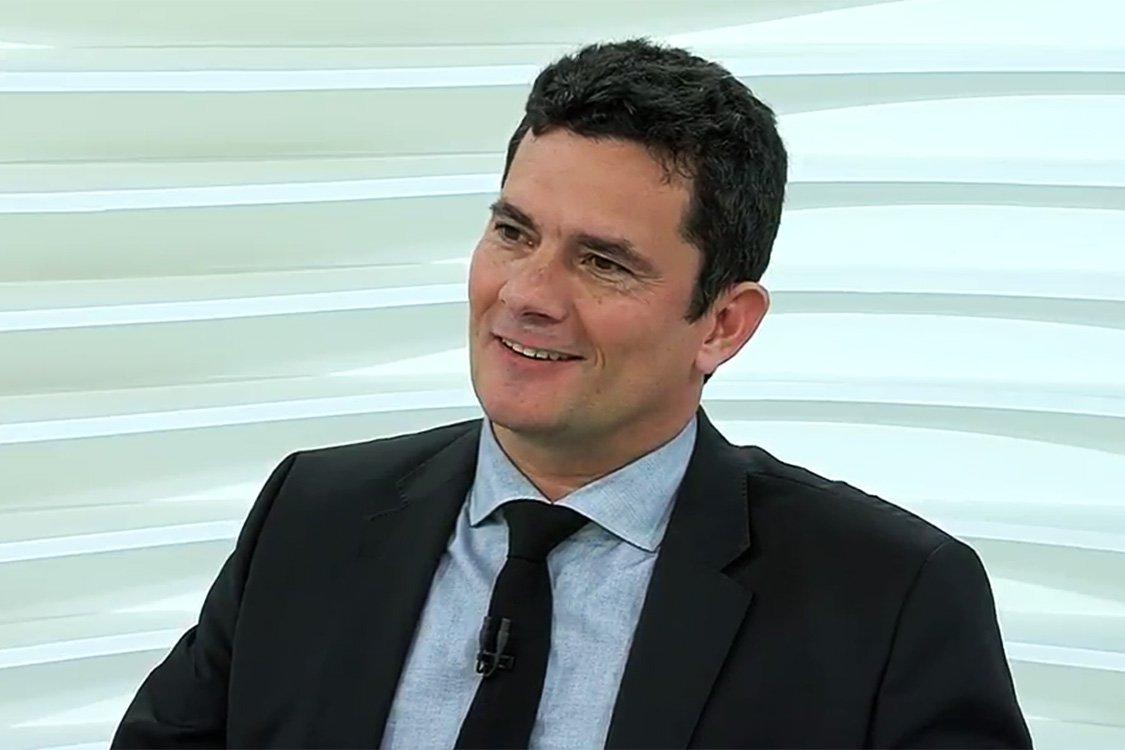 O juiz Sérgio Moro participa do programa Roda Viva
