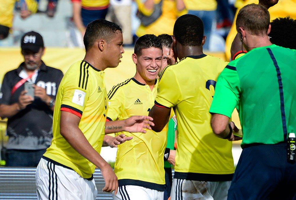 Liderados por James Rodríguez, os colombianos fizeram sua melhor campanha em Copas na última edição, quando chegaram às quartas de final. Em 2018, na Rússia, os colombianos estão no grupo H, ao lado de Japão, Polônia e Senegal