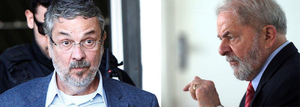 Antes de delatar, o ex-ministro Antônio Palocci ficava trancado na cela 22 horas por dia, saía só para banho de sol e conversar com advogados; sua situação mudou radicalmente para melhor depois de se tornar delator. Agora sua cela fica aberta toda a manhã