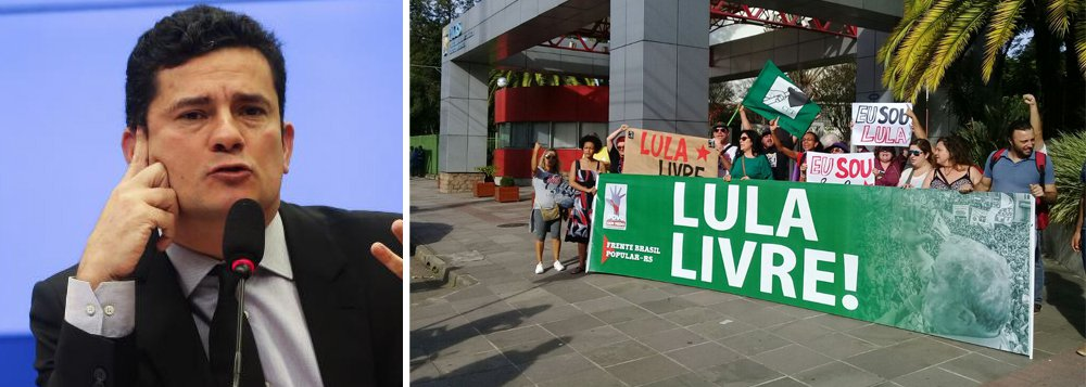"""Sergio Moro foi recebido nesta terça-feira 10 aos gritos de """"golpista"""" na Pontifícia Universidade Católica (PUC) do Rio Grande do Sul; o juiz participou nesta tarde do Fórum da Liberdade, realizado na instituição; do lado de fora, manifestantes organizaram o """"Fórum da Liberdade para Lula""""; assista à recepção a Moro na universidade"""