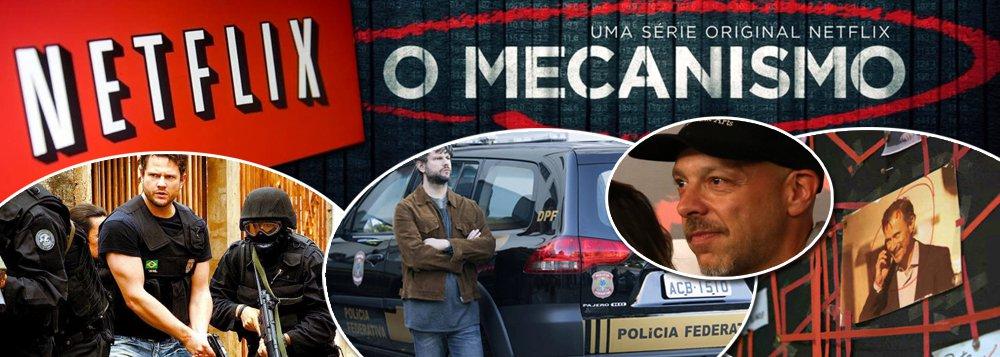 """Chega a ser criminosa a série """"O mecanismo"""", lançada pela Netflix na antevéspera do que seria a prisão do ex-presidente Lula; embora diga ser baseada em fatos reais, a série é uma coleção de """"fake news""""; entre as cenas mais grotescas, dirigidas pelo brasileiro José Padilha, o doleiro Alberto Youssef frequenta o comitê da campanha do PT, a presidente Dilma Rousseff grava um pronunciamento eleitoral sobre como """"estocar vento"""", e o ex-presidente Lula diz a Michel Temer para não se preocupar com os """"açougueiros"""" da JBS; """"Padilha expressa todo o seu ódio pelo progressismo e nacionalismo brasileiros nessa série lamentável"""", diz o leitor Alexandre Mendes Santos; saiba como protestar junto à Netflix"""