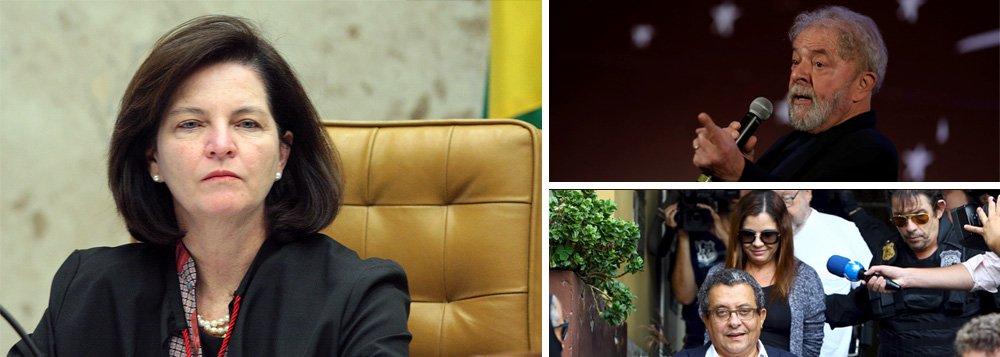 """Procuradora-geral da República, Raquel Dodge, negou acesso à defesa do ex-presidente Luiz Inácio Lula da Silva às delações premiadas do ex-marqueteiro do PT, João Santana, e sua mulher, Mônica Moura; PGR negou o acesso aos dados alegando que as investigações ainda estão em andamento e que Lula deseja ter acesso aos documentos de forma """"indevida e antecipadamente"""" no inquérito onde a necessidade de sigilo """"é evidente""""; caso será analisado pelo ministro do Supremo Tribunal Federal (STF) Edson Fachin"""