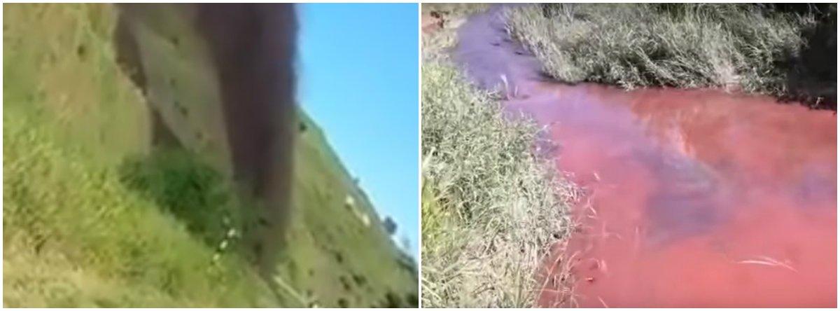 Rompimento de mineroduto da Anglo Americandespejou polpa de minério de ferro em ribeirão que abastecia a cidade de Santo Antônio do Grama, que tem 4,2 mil habitantes; a mineradora disponibilizou caminhões-pipa para atender aos moradores; confira vídeo do vazamento