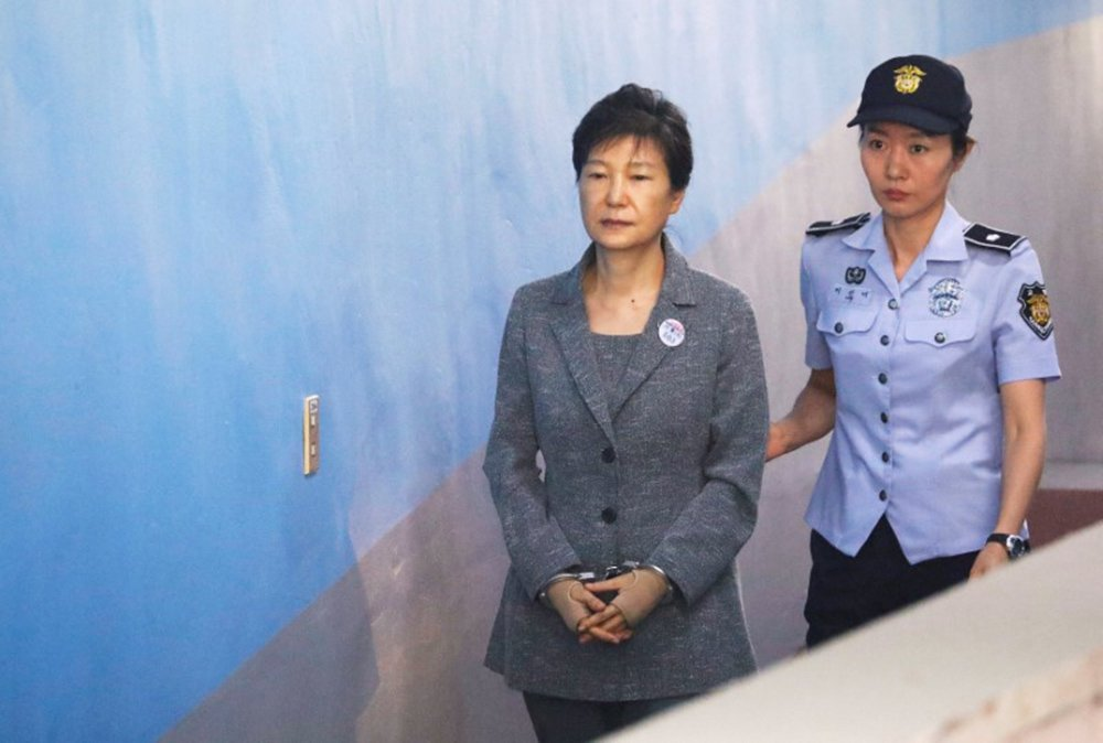 Ex-presidente da Coreia do Sul Park Geun-hye chega a tribunal em Seul 25/08/2017 REUTERS/Kim Hong-Ji