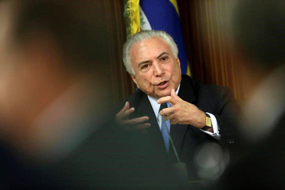 Presidente Michel Temer durante reunião com governadores e ministros no Palácio do Planalto em Brasília 01/03/2018 REUTERS/Ueslei Marcelino