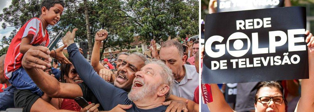 """""""A Globo quer que o Supremo Tribunal Federal permita, por omissão, que a prisão de Lula seja executada. Passou de todos os limites a pressão dos editoriais para que o STF não julgue as ações e habeas corpus que contestam a prisão em segunda instância"""", critica a presidente do PT, senadora Gleisi Hoffmann; para Gleisi, a Globo quer proibir o povo de eleger """"quem melhor o representa""""; """"Querem prender Lula para manter o Brasil nas mãos de quem só vê os interesses dos ricos, quer acabar com aposentadoria, tirar direitos dos trabalhadores, entregar o pré-sal e o patrimônio brasileiro aos estrangeiros"""""""