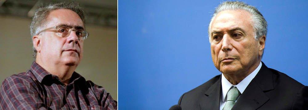 """""""Se Temer for derrubado, fortalece-se a hipótese do adiamento das eleições, com o país sendo entregue ao deputado Rodrigo Maia, genro de Moreira Franco. Nos próximos dias, haverá mais lenha na fogueira, visando amedrontar o STF na votação do HC de Lula, tornar mais agudo o quadro de descontrole, para posterior aparecimento da bandeira salvadora do adiamento das eleições"""", diz o jornalista Luis Nassif"""