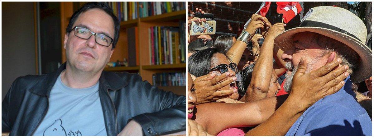 """""""Lula é muito mais do que seu partido, seus governos, suas políticas, suas declarações. Lula é o símbolo de que as hierarquias sociais no Brasil podem ser desafiadas. Lula é a prova de que o Estado brasileiro pode agir para minorar as privações dos mais pobres. Lula é a encarnação da esperança de um país melhor"""", diz o cientista político Luis Felipe Miguel; """"Defender Lula contra a prisão injusta e arbitrária é defender os direitos de um cidadão perseguido por um aparelho repressivo discricionário e violento"""""""