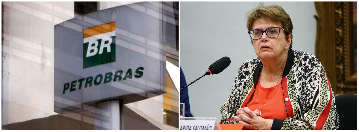 """A deputada federal Margarida Salomão (PT-MG) criticou o governo Michel Temer por causa do entreguismo na atual gestão; """"Além de entregar o pré-sal, o governo golpista anunciou a venda de 60% das refinarias e dos ativos de logística da estatal. A Petrobras está sendo esquartejada e vendida aos pedaços. O futuro do Brasil está seriamente comprometido com essa 'nova onda' de privatizações"""", afirmou"""