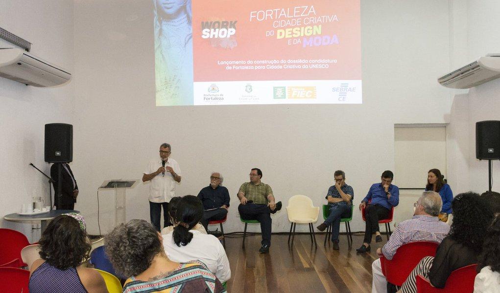 A Prefeitura de Fortaleza lançou ontem, a candidatura da cidade ao selo da Rede Mundial de Cidades criativas da Unesco. Até abril de 2019, a prefeitura deve encaminhar à Unesco um relatório com os avanços municipais no âmbito do design em suas múltiplas especificidades. O resultado será divulgado em outubro de 2019