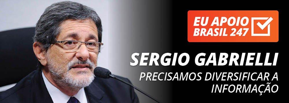 """O ex-presidente da Petrobras José Sergio Gabrielli apoia a campanha de assinaturas do Brasil 247; """"Todo apoio à TV 247. Precisamos ter mais e mais veículos para diversificar a informação do nosso povo"""", diz ele; assista ao seu vídeo de apoio"""