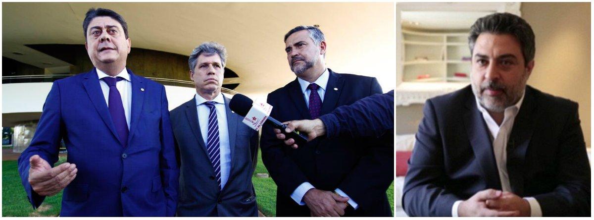 O líder do PT na Câmara, deputado Paulo Pimenta (PT-RS), e os deputados Paulo Teixeira (PT-SP) e Wadih Damous (PT-RJ) foram nesta quarta-feira 28 à Procuradoria-Geral da República cobrar investigação sobre denúncias feitas pelo advogado Rodrigo Tacla Duran, que atuava para a Lava Jato; em depoimentos à CPMI da JBS, Tacla Duran afirmou que a Odebrecht adulterou provas da Lava Jato em seu acordo com os procuradores; o juiz Sergio Moro já negou quatro vezes ouvi-lo como testemunha do ex-presidente Lula; o TRF4 também rejeitou os pedidos
