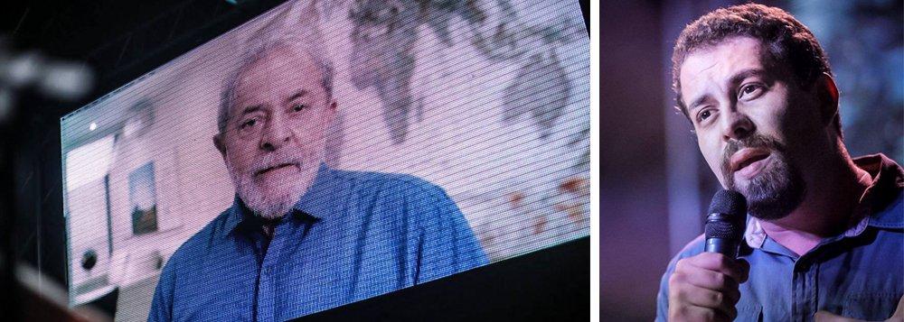 """Líder do Movimento dos Trabalhadores Sem Teto (MTST), Guilherme Boulos, confirmou sua pré-candidatura à Presidência nas eleições deste ano e deverá assinar sua filiação ao PSOL nesta semana; em um vídeo gravado especialmente para a ocasião, o ex-presidente Lula manifestou seu poio à postulação do ativista; Boulos disse que apesar de discordar de algumas posições políticas de Lula defende o direito de que ele possa disputar o pleito de outubro; """"Diferenças políticas não podem significar conivência com injustiça. O judiciário retirou no tapetão o candidato mais popular. Não podemos naturalizar uma condenação imposta injustamente quando os reais ladrões estão no Congresso"""", disse"""