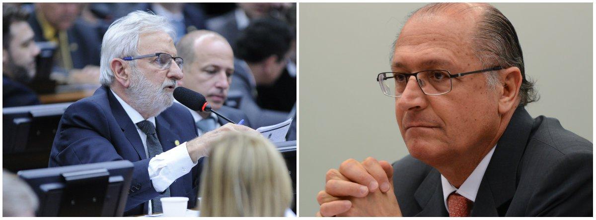"""Deputado Ivan Valente (Psol-SP) desferiu duras críticas ao pré-candidato à presidência da República pelo PSDB, Geraldo Alckmin, por já ter adiantado querer privatizar a Petrobras e dar sinais de que pretende fazer o mesmo com a Caixa; """"Alckmin quer falar para o mercado, mas não consegue ser o candidato do mercado"""", afirmou; """"Em 2010, Alckmin vestiu um jaqueta com titulo de todas as estatais: Petrobras, Correio, Caixa. Foi duramente criticado pelos próprios tucanos e perdeu a eleição, mas por uma única razão: o povo brasileiro, apesar do massacre midiático a favor das privatizações, é contra as privatizações"""""""