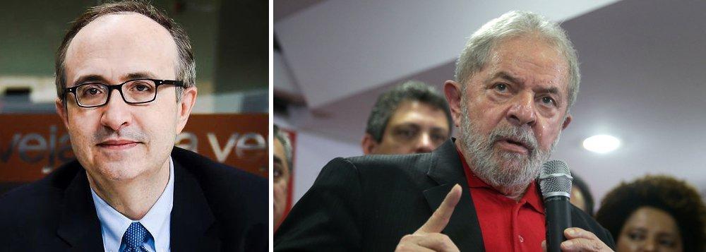 """""""Acreditem: um país em que os Partidos da Polícia tomam o lugar dos Partidos da Política será sempre instável e estará condenado à mediocridade, quando não ao caos, porque permanentemente assediado por tentações populistas de direita e de esquerda""""; O recado é do jornalista Reinaldo Azevedo, um dos porta-vozes do neoconservadorismo na mídia, ao comentar a entrevista do ex-presidente Lula à Folha"""