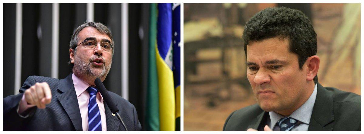 Deputado federal Henrique Fontana (PT-RS) e juiz federal Sérgio Moro .2