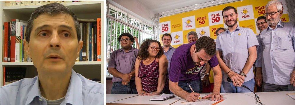 """A ala do PSOL liderada por Plínio de Arruda Sampaio Junior, o Plininho, afirma que a candidatura do líder do MTST Guilherme Boulos a presidente transformará o partido em um puxadinho de Lula e do PT; """"A esdrúxula participação de Lula na Conferência Cidadã, abençoando a candidatura de Boulos, representa um atentado à história de um partido que nasceu exatamente como uma crítica ao lulismo. Boulos seria bem-vindo ao PSOL, mas não desse jeito"""""""