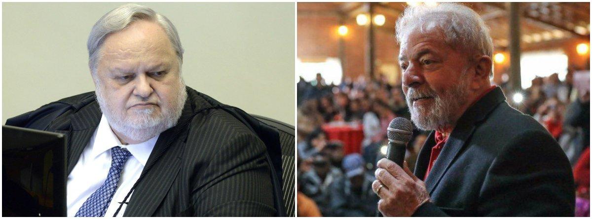 Primeiro a votar no julgamento do habeas corpus no Superior Tribunal de Justiça (STJ), o ministro relator,Félix Fischer (à esquerda), negou o recurso que preveniria o ex-presidente Lula de ser preso e disse que a pena pode, sim, ser executada após o esgotamento dos recursos em segunda instância; sentença de Lula no TRF4, de Porto Alegre, que confirmou a condenação no caso do triplex, foi de 12 anos e um mês de prisão; placar foi de 5 a 0; ministros da Quinta Turma Jorge Mussi, Reynaldo Soares, Marcelo Navarro e Joel Ilan Paciornik também negaram o HC