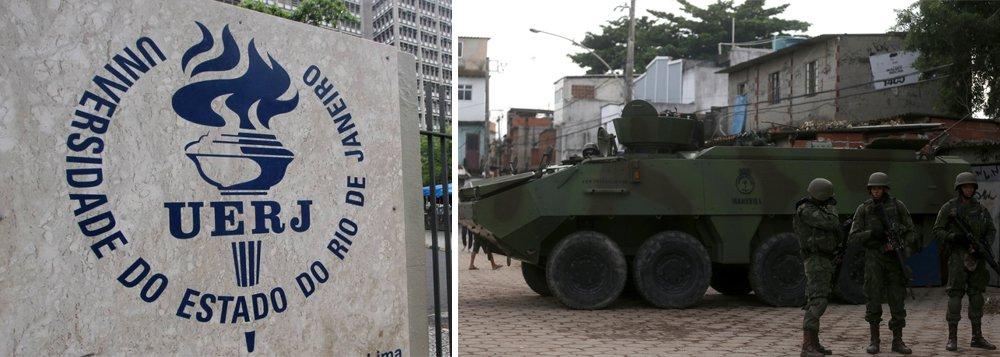 """Universidade Federal do Rio de Janeiro (UFRJ) elaborou um manifestou sobre a intervenção federal na área de segurança pública no Rio; documento, assinado por mais de 300 intelectuais, professores, juristas, políticos, acadêmicos, além de movimentos sociais, diz expressar uma """"´séria preocupação"""" com """"a medida que indica a opção pela lógica militar para enfrentar os importantes problemas de segurança pública, com consequências sumamente graves para a população que vive nos territórios com maior incidência de violência"""", diz trecho do manifesto"""