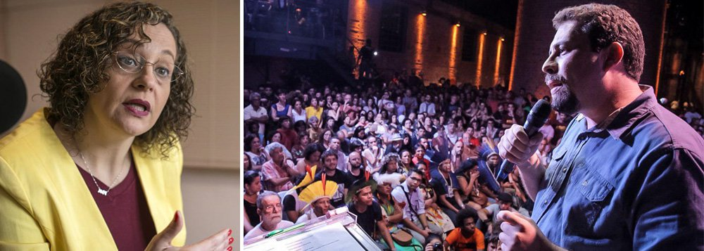 """Candidata à presidência pelo PSOL em 2014, Luciana Genro diz que a filiação de Guilherme Boulos é """"vitória enorme"""" para o partido, mas tem uma preocupação com o perfil que a possível candidatura dele a presidente possa ter pela ligação de Boulos com o ex-presidente Lula; para Luciana, uma candidatura do PSOL precisa ter uma postura clara de enfrentamento ao modelo lulista, que ela considera ser de conciliação de classes, de supressão da mobilização dos movimentos sociais e de governar a partir de negociatas; """"Isso tudo precisa ser dito claramente por uma candidatura do PSOL e a nossa preocupação é como será feito em relação ao Boulos"""""""