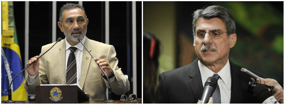 Os ministros da Primeira Turma do STF rejeitaram queixa-crime do senador Romero Jucá (MDB-RR) contra o parlamentar da mesma Casa Telmário Mota (PTB-RR) por supostos crimes de calúnia, difamação e injúria; em vídeo, o petebista levantou suspeitas sobre a legalidade de uma rádio em Roraima e associa o veículo a Jucá, a quem se referiu pelo termo 'propineiro' e acusou da prática de fraude no caso da emissora