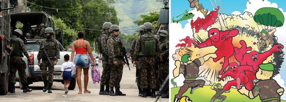 """A presidente nacional do PT, senadora Gleisi Hoffmann, denunciou neste fim de semana a doutrinação do Exército com a distribuição de revistinhas contra o """"perigo vermelho"""" na intervenção no Rio de Janeiro; confira"""