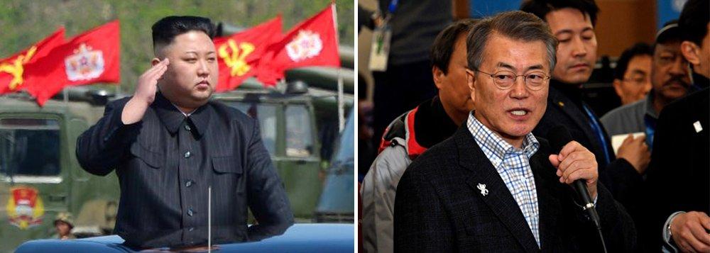 O líder da Coreia do Norte, Kim Jong Un, e o presidente da Coreia do Sul, Moon Jae-in, se reunirão em abril; Jong Ui Yong, chefe do Escritório de Segurança Nacional da Coreia do Sul, disse que este foi um dos acordos alcançados durante sua visita entre segunda e terça-feira (6) a Pyongyang, onde foi recebido pelo mandatário norte-coreano; ; antes os dois realizarão consultas e analisarão os caminhos para reduzir as tensões militares por meio de um canal de comunicação aberto exclusivamente para eles