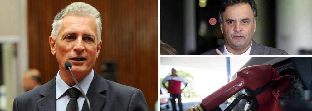 """Deputado estadual Rogério Correia (PT) afirmou que """"a política da Petrobras, a partir do governo de Temer e Aécio, é dar todo o poder aos investidores, sobretudo estrangeiros""""; segundo petista, """"soa como piada de mau gosto a fake news que a turma ligada a Aécio Neves está tentando espalhar em Minas Gerais. Querem que os mineiros acreditem que os reajustes se deveriam ao aumento do ICMS sobre combustíveis no Estado. E o ICMS representa apenas 29% do preço da gasolina"""""""