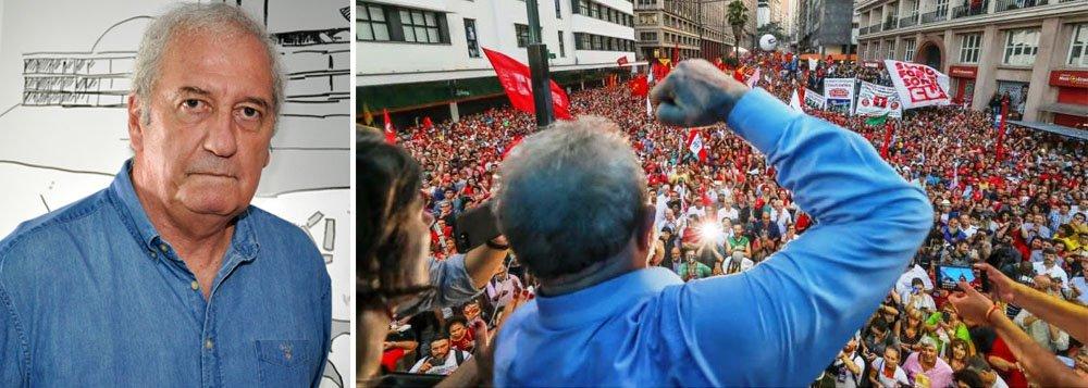 """Um dos mais influentes jornalistas do país, ministro-chefe da Secom entre 2007 e 2011, Franklin Martins avalia que não haverá saída para a crise sem um acordo das principais forças em torno de uma """"uma repactuação democrática""""; """"Não existe democracia sem isso. O Brasil é um país grande demais para estar sem democracia. É ingovernável sem democracia"""", afirma em entrevista à TV 247; """"A repactuação precisa que o outro lado aceite a questão básica da democracia: o voto"""", completa; para ele, a perseguição judicial à candidatura de Lula pode produzir uma reação popular semelhante à que ocorreu em agosto de 1954, quando o tiro no peito de Getúlio Vargas gerou uma gigantesca onda de protestos, de vários dias;assista à íntegra"""