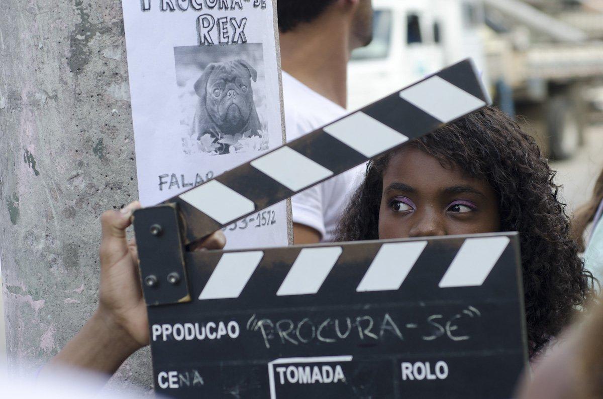 Projeto social Cinema da Gente, na comunidade da Mangueira