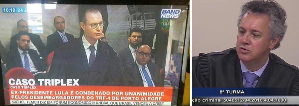 Ainda nem haviam começado os votos do TRF4,do julgamento de Lula, nesta quarta-feira (24), em Porto Alegre, mas a emissora de notícias a cabo do Grupo Bandeirantes, a Band News, já antecipava o resultado