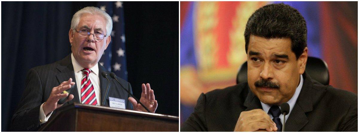 """""""O discurso 'humanitário' sobre a crise venezuelana não passa de hipocrisia da Casa Branca para alimentar pressões destinadas a derrubar o governo Maduro"""", escreve Paulo Moreira Leite, articulista do 247. """"O mundo inteiro assiste em silêncio obsequioso à guerra econômica que é a principal causa das dificuldades atuais do país, numa estratégia que lembra o golpe que derrubou Salvador Allende, no Chile"""", afirma. Para PML, """"incapaz de construir uma alternativa democrática ao chavismo, apenas a certeza absoluta de uma derrota nas urnas explica a decisão da oposição de abandonar a disputa pelo voto para retornar às velhas conspirações golpistas"""""""