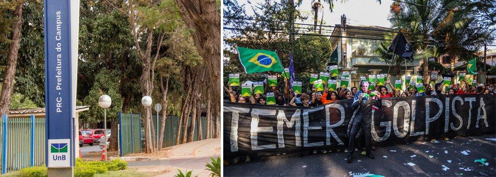 Daqui a pouco vão nos impedir de usar camisetas com poemas que não agradem as elites, ver filmes sobre nossa história recente, cantar canções de protesto ao golpe. Teremos que parar de pensar também? Assim foi na ditadura militar que dominou o Brasil mais de 20 anos