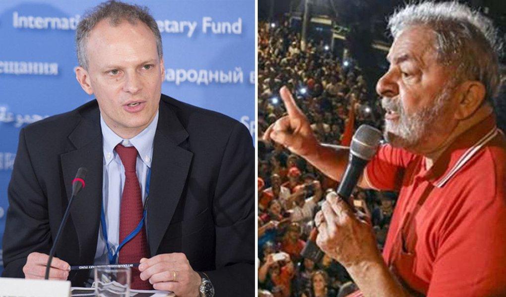 """""""Desde o governo Lula o Brasil não prestava atenção no FMI"""", escreve Paulo Moreira Leite, articulista do 247; """"Um dia depois do julgamento no TRF-4, que reforça a perseguição ao candidato do PT, o diretor responsável pela América Latina diz que """"um processo eleitoral com maior nível de conflito gera mais incerteza, obviamente""""; PML recorda que, durante o mandato de Lula, os representantes do FMI foram colocados em seu devido lugar e não eram autorizados a falar publicamente da política econômica do país: """"o último que saiu do anonimato acabou preso por fraude"""""""