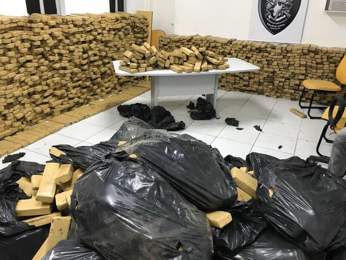 O Maranhão apreendeu 7,1 toneladas de drogas em 2017, marca 139% superior em comparação com o ano de 2016; a Bahia é a segunda colocada no ranking regional, com 6,1 toneladas apreendidas, seguida do Ceará com 3,5 toneladas de drogas confiscadas em 2017