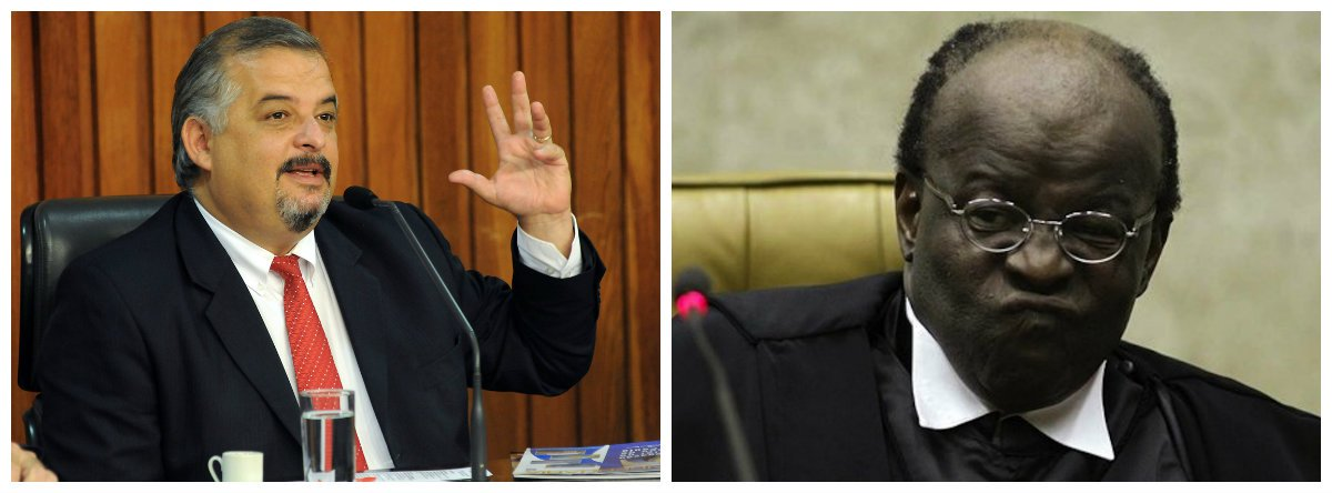 Vice-governador de São Paulo, Márcio França (PSB) e ex-presidente do Supremo Tribunal Federal (STF Joaquim Barbosa 2