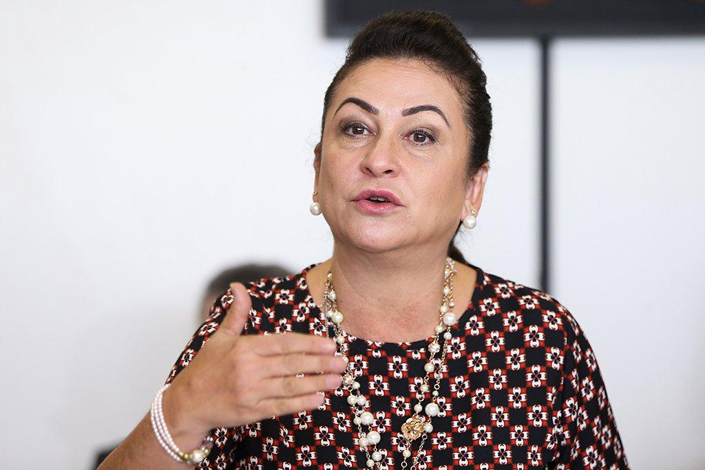 Brasília - Senadores se reúnem com a relatora da Comissão Especial do Senado que analisa projetos relativos aos supersalários na administração pública, a Senadora Kátia Abreu. (Marcelo Camargo/Agência Brasil)