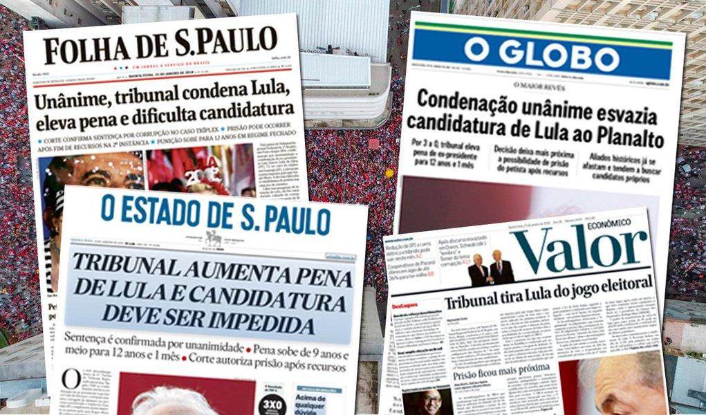 Os 11 principais jornais diários do Brasil registraram, entre 2015 e 2017, redução na circulação média diária impressa de 520 mil exemplares; em dezembro de 2014, a tiragem impressa total desses 11 diários era de 1.256.322 exemplares em média por dia; em dezembro de 2017, o número havia caído para 736.346 –o equivalente a uma redução de 41,4%;informações são de levantamento do site Poder 360