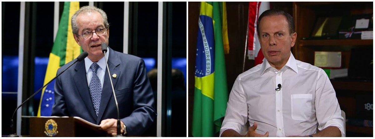 """O pré-candidato ao governo de São Paulo pelo PSDB, José Anibal, bateu duro no prefeito da capital paulista, João Doria (PSDB), ao chamar o correligionário de """"politiqueiro"""" e """"carreirista""""; """"Ele está querendo sair da prefeitura e as pesquisas mostram que isso será negativo para ele, que os paulistanos vão se sentir abandonados"""", disse Aníbal; """"Ele mal sentou na cadeira de prefeito e já está querendo o governo"""""""