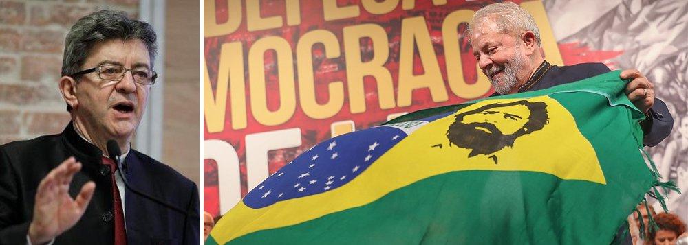 """Presidente da França Insubmissa, principal partido de oposição francês, Jean-Luc Mélenchon publicou em seu blog um longo texto em defesa do ex-presidente Lula da Silva; para Mélenchon, julgamento de Lula é o caso mais flagrante da tentativa de bloquear a chegada da esquerda ao poder; """"Diante da fraqueza ou até mesmo da inexistência de provas apresentadas pela acusação durante o processo, é claro para todos os observadores que trata-se de uma manobra para impedi-lo de se tornar presidente"""", afirmou; para ele, Lula é vítima de uma conspiração """"dos oligarcas e dos Estados Unidos"""", cujo """"objetivo vital"""", é """"abatê-lo"""""""