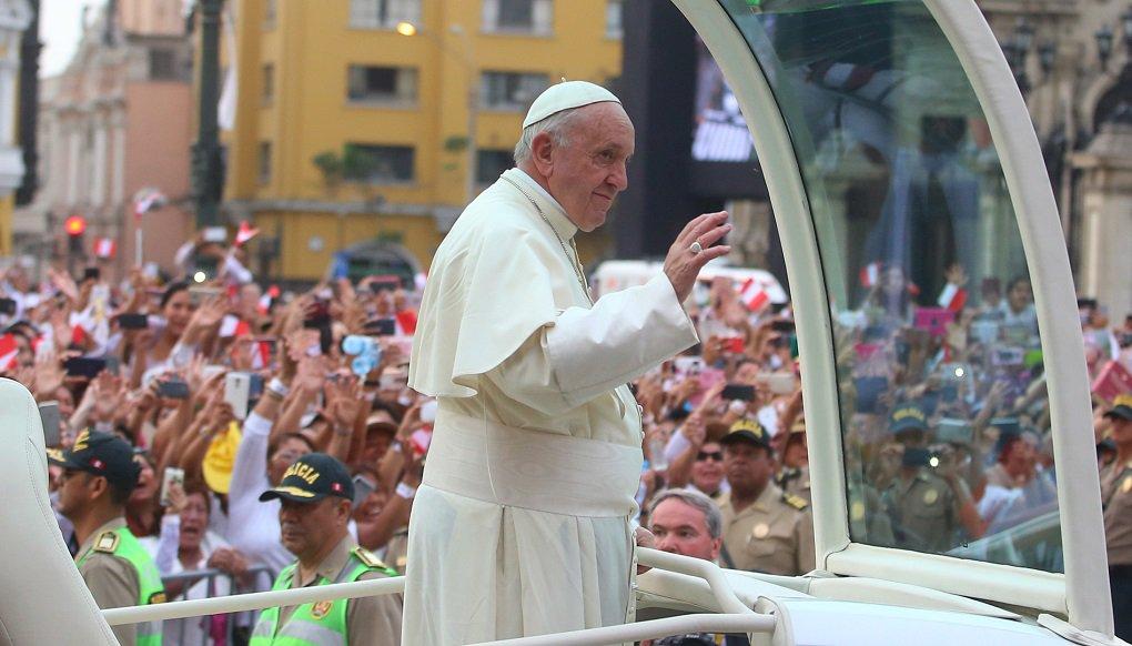Lima Perú 20 01 2018 Papa Francisco no palacio do governo do Perú durante visita de 3 dias no País Foto Juanca Guzman NegriniGov.Perú