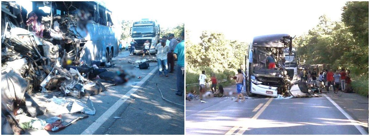 O acidente com o ônibus da empresa Expresso Guanabara, na BR-020, em Formosa, Goiás, deixou ao menos sete pessoas mortas; segundo a Polícia Rodoviária Federal (PRF), ainda não há um número de preciso de feridos, que foram encaminhados para unidades de saúde da região