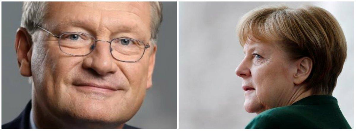 """Parlamentar europeu do partido de direita AfD, Jorg Meuthen criticou as autoridades da Alemanha por permitir que um refugiado sírio vivesse ilegalmente com duas esposas, um movimento que pode ter criado jurisprudência para que outros façam o mesmo; """"De acordo com o sistema de valores estabelecido na constituição alemã, não existe a menor dúvida sobre a ilegalidade da poligamia e do casamento infantil. É tempo de acabar com isso parando a [chanceler] Angela Merkel, que desrespeita a lei aplicável desde que ela estava no poder e colocou nosso estado em risco de falhar"""", disse"""
