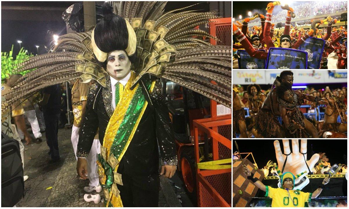 Desfilando pelas ruas ou em sambódromos, ao som de músicas carnavalescas, foliões, passistas bradaram contra o traidor Temer, contra a Globo, contra prefeitos, contra Moro, contra o STF, contra reformas criminosas, contra a perseguição descabida ao Lula e etc. Em suma contra o golpe de estado
