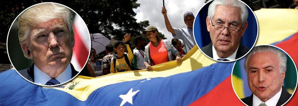 """""""Aparentemente, os EUA estão pretendendo acelerar os preparativos para uma intervenção mais aberta e incisiva na Venezuela. Após as declarações de Trump, de que não descartaria uma intervenção militar naquele país, o Secretário de Estado norte-americano, Rex Tillerson sugeriu que solução para a Venezuela poderia vir de um golpe"""", escreve o colunista Marcelo Zero; """"Não se espere, porém, racionalidade do governo dos EUA, ainda mais na gestão de Donald Trump. Poder-se-ia esperar racionalidade do Brasil. Não mais. Mesmo com mesóclise. O governo do golpe rompeu com todos os parâmetros e paradigmas e dedica-se, com notável empenho, na destruição e na venda do Brasil"""", avalia"""